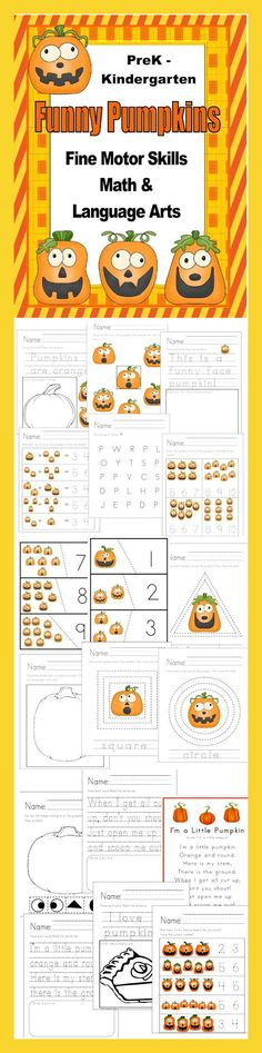 Whimsical Unit designed for use during October and November with PreK…