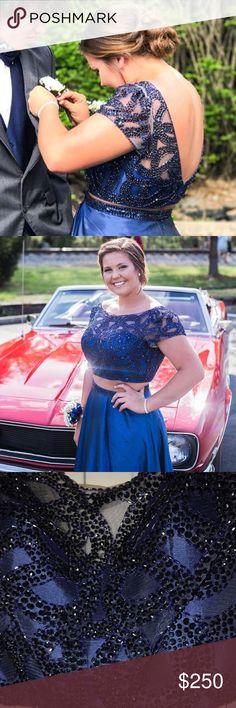 Prom dress A navy blue Sherri Hill prom dress, size 14, has been altered Sherri Hill Dresses Prom