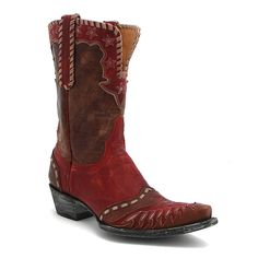 "Old Gringo 10"" Brass & Red Freedom Boot at Maverick Western Wear"