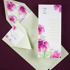 Watercolor Florals Wedding Invitation | dandilioncards