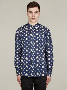 Levi's Vintage Clothing Men's Long-Sleeve Star Shirt | oki-ni