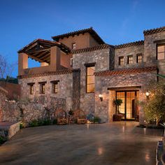 Tuscan home exterior
