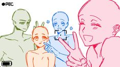 Drawing Expressions, Art Inspiration Drawing, Art Drawings Sketches Simple, Art Base, Drawing Reference Poses, Drawing Base, Cartoon Art Styles, Drawing Challenge, Anime Sketch