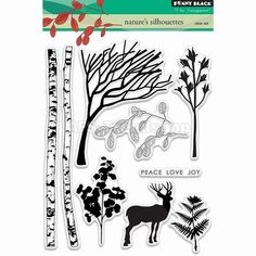 Penny Black Clear Stamps - Nature\'s silhouettes