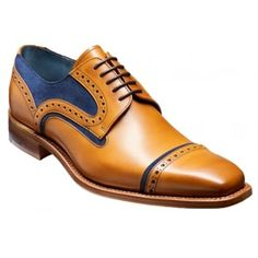 A contemporary toe cap Derby front lace-up shoes feature punched detailing with toe-cap design and delightful suede and leather two-tone combinations. These shoes are for the more discerning of gentlemen, whether they are to be worn for the office or with jeans. They will certainly make a statement. http://www.marshallshoes.co.uk/mens-c1/barker-mens-haig-cedar-calf-blue-suede-lace-up-loafer-p4080
