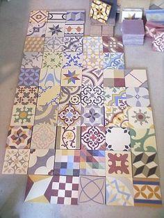 Patchwork Tiles, TIle Patchworks, Patchwork Encaustic Tiles, Patchwork Cement Tiles, Floor Tiles, Wall TIles | Alhambra Home & Garden