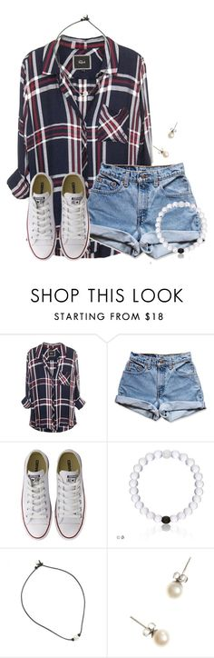 """Flannels are just yasss!"" by flroasburn ❤ liked on Polyvore featuring Levi's, Converse and J.Crew"