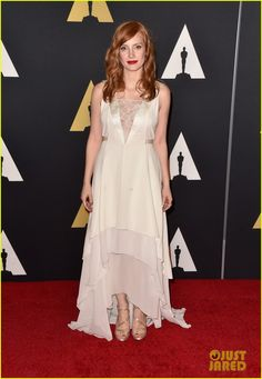 jessica chastain hilary swank governors awards 2014 01 Jessica Chastain looks lovely while walking the red carpet at the Academy Of Motion Picture Arts And Sciences' 2014 Governors Awards at The Ray Dolby Ballroom…