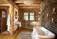 badeinrichtung modern und rustikal