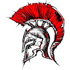Nice red spartan helmet, that symbolizes militancy. Color: Red. Tags: Creative, Nice