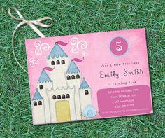 PRINTABLE Princess Birthday Party Invite by KTsARTsDESIGNs on Etsy, $5.00
