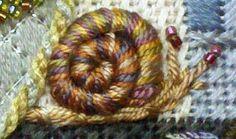 Stumpwork snail, Kelly Clark Needlepoint Handbook: Kelly's New Sampler