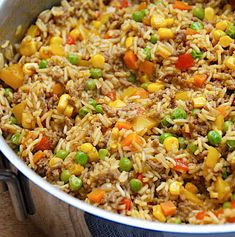 Fried Rice, Fries, Chinese, Healthy, Ethnic Recipes, Food, Eten, Meals, Stir Fry Rice