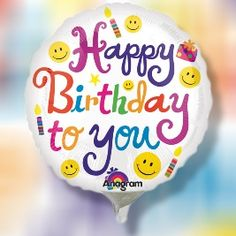 Happy Birthday To You Bouquet Latex Balloons Foil