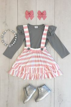 Shop cute kids clothes and accessories at Sparkle In Pink! With our variety of kids dresses, mommy + me clothes, and complete kids outfits, your child is going to love Sparkle In Pink! Baby Girl Skirts, Cute Baby Girl Outfits, Cute Baby Clothes, Toddler Outfits, Baby Dress, Kids Outfits, Cute Outfits, Baby Girl Fashion, Toddler Fashion