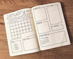 """1,369 Likes, 12 Comments - Ashlyn (@bluenittany) on Instagram: """"Late posting this, but here is my clean January monthly overview ❄️ • • • #weeklyspread #2017…"""""""