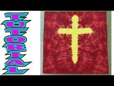 ▶ How to Tie Dye a Cross Design [Full Tutorial] - YouTube