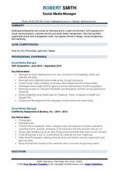 Social Media Manager Resumes Administrative Assistant Cover Letter, Firefighter Jobs, Dental Receptionist, Professional Cover Letter, Professional Resume, Nurse Job Description, Care Jobs, Job Resume Template