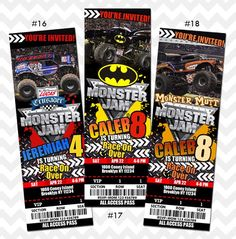 Printable Monster Jam Invitations Download Ultimate Collection