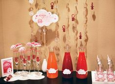 Cloud on stick in Ikea vase | Hostess with the Mostess® - Showered With Love (Food & Drinks)