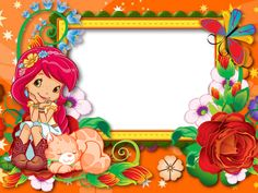 Created in «Webka Photo Frames Baby Picture Frames, Strawberry Shortcake Party, Pixar Characters, Art Village, Baby Painting, Christmas Frames, Bottle Cap Images, Album Design, Boarders