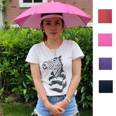 61974ccc713 Fishsunday Foldable Sun Umbrella Hat Golf Fishing Camping Headwear Cap Head