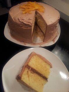 Orange, Icewine, Chocolate Layer Cake