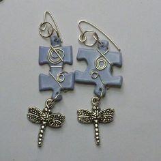 Make Fun Puzzle Earrings   JewelryLessons.com