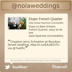 @nolaweddings's Twitter profile courtesy of @Pinstamatic (http://pinstamatic.com)