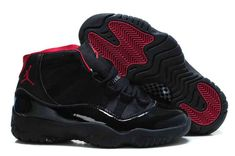 Air Jordan 11 For Sale Cheap All Black Red - Click Image to Close