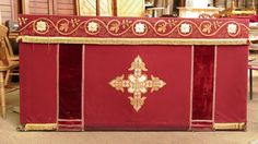 Altar Frontal and Superfrontal Red Thornton Heath