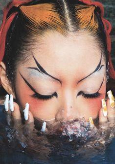 Goth Makeup, Makeup Inspo, Makeup Art, Makeup Inspiration, Beauty Makeup, Eye Makeup, Hair Makeup, Make Up Looks, Looks Cool