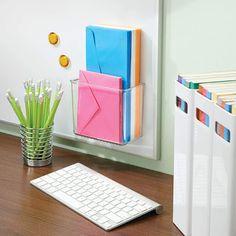 iDesign AFFIXX Plastic Rack - Gadgets Info Shelves In Bedroom, Bathroom Shelves, Kitchen Shelves, Bedroom Gadgets, Office Shelf, Guest Room Office, Rack Shelf, Cupboard Doors, Wood Surface