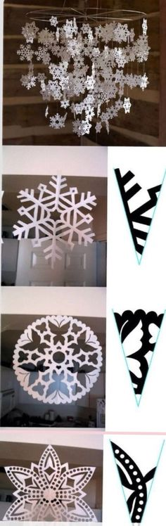 Snowflake paper patterns