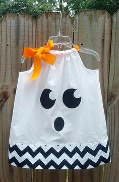 Halloween Ghost Pillowcase Dress #halloween #dress www.loveitsomuch.com