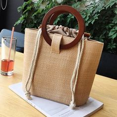 Women's bag 2020 new European and American beach bag ring handbag shoulder messenger bag bag Slow Fashion, Handmade Bags, Bag Sale, Luggage Bags, Travel Bag, Rattan, Bag Accessories, Messenger Bag, Reusable Tote Bags