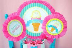 Ice Cream Party - ICE CREAM Printables - Ice Cream - Sweet Shop - Ice Cream Shoppe - ICE CREAM Birthday - First Birthday - ICECREAM - Ice Cream CIRCLE BURSTS Baby Ballerina, Ice Cream Party, Color Change, First Birthdays, Party Supplies, Happy Birthday, Birthday Ideas, Card Stock, Create Yourself