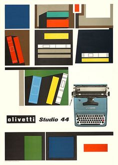 Giovanni Pintori poster for the Olivetti Studio 44 (1954) #GiovanniPintori