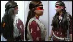 indiánský učes a make-up Hair Styles, Beauty, Hair Plait Styles, Hair Makeup, Hairdos, Haircut Styles, Hair Cuts, Hairstyles, Beauty Illustration