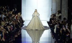 Zuhair Murad showcased his Spring/Summer 2015 collection at the Palais de Tokyo, infusing pastel as well as metallics like gold and silver into his Runway Fashion, Fashion Show, High Fashion, Zuhair Murad Bridal, Haute Couture Fashion, Spring Summer 2015, Formal Dresses, Wedding Dresses, Evening Gowns