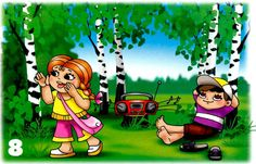 robiť hluk v lese Daily Schedule Preschool, Safety Rules, Diy And Crafts, Kindergarten, Clip Art, Education, Nature, Fictional Characters, Illustration