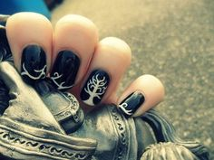 White tree of Gondor. Lord of the Ring nails.