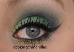 St. Patricks Day makeup.