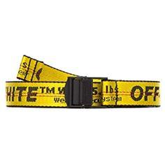 Calda cintura gialla lettera off fibbia in metallo decorazione tempo libero cintura moda strada white belt uomini donne