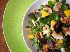 Mango, Avocado & Toasted Coconut  Salad w/ Lime Vinaigrette