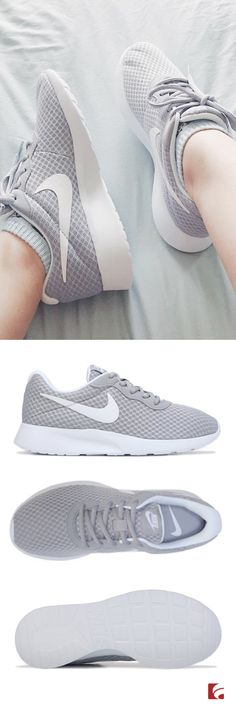Spring's must-have sneaker has arrived - the Nike Tanjun! Our friend Shannon Thao snapped a stylish moment wearing the Tanjun in Grey/White, and we think they're perfect for warm weather walks. This Nike style features a sleek, no-sew, flexible and breathable mesh upper in a casual sneaker style with a round toe. Plus, a textile lining and cushioned insole for added comfort!