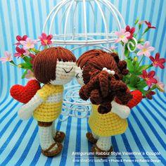 PDF Pattern Amigurumi Valentine's Couple Boy & от rabbizdesign