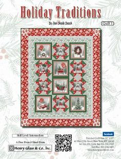 Free project for the Holiday Traditions collection. Click the image to download the pattern from Henry Glass & Co.