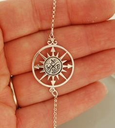 To go in the direction of your dreamsCompass Star Bracelet. $50.00, via Etsy.