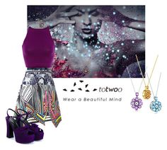 """""""Totwoo"""" by reader-fashion-lover ❤ liked on Polyvore featuring Preen, Yves Saint Laurent, purple and totwoo"""